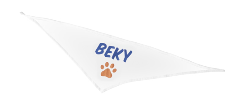 Kutyakendő felirattal, fotóval