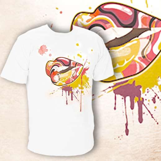 Чоловіча футболка з різнокольоровим мотивом