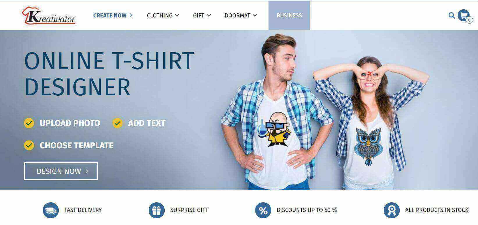 Online T-shirt designer Kreativator