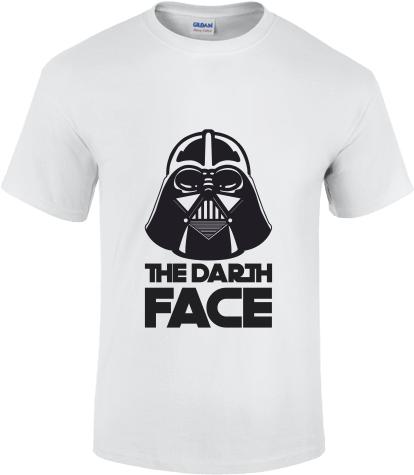 faf197a5e7 Darth face | Fehér Gildan férfi póló tervezés és nyomtatás saját ...