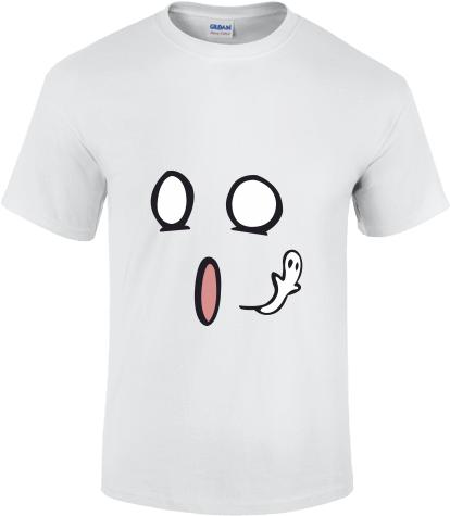 62a62ad632 Megdöbbent arc | Fehér Gildan férfi póló tervezés és nyomtatás saját ...