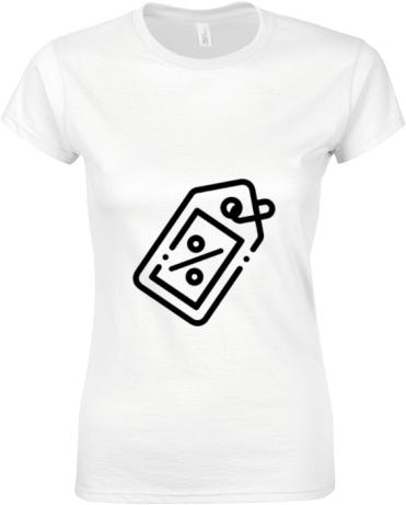 Fehér női Gildan póló tervezés és nyomtatás saját fényképpel ... 96f5f3abd5