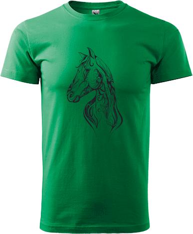 c6cd968abb Ló sziluett | Prémium férfi Adler póló nyomtatás saját fényképpel ...