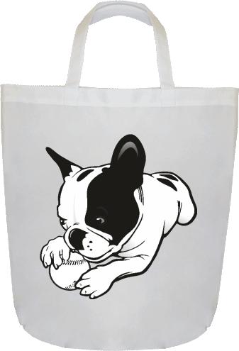 c554b68ef9 Bulldog labdával | Saját tervezésű bevásárlótáska nyomtatás ...