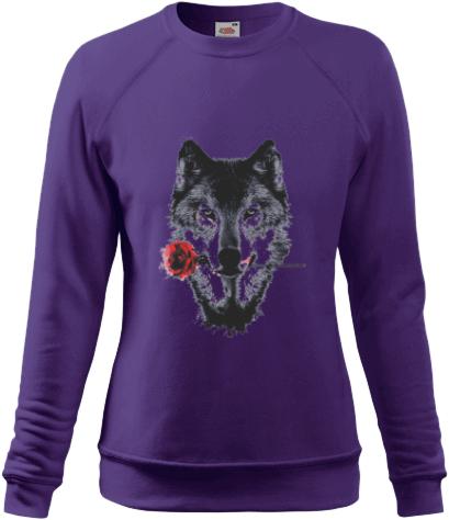 Női pulóver Fruit nyomtatott mintával Farkas