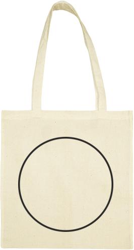 Szimpla kör | Nyomtatott pamut táska 37 x 40 cm | Kreativator