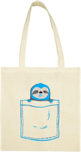 Pamut táska 38 x 42 cm nyomtatott mintával Smile
